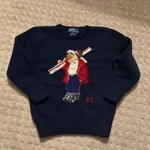 Ralph Lauren Polo Bear Cotton Sweater Boys Size 5